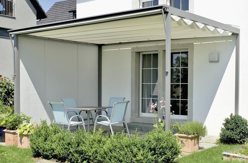 horizontal faltstore das perfekte sonnen und regendach. Black Bedroom Furniture Sets. Home Design Ideas